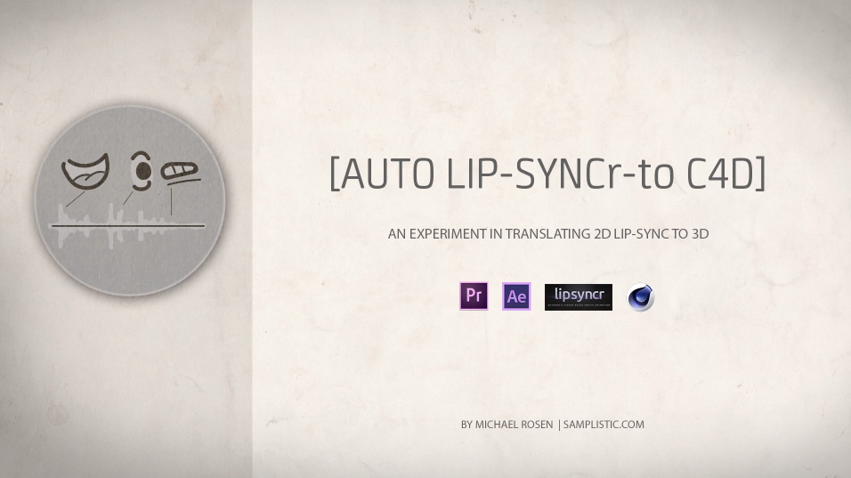 Drive Lip Sync in C4D By Using Data from LipSyncr in After