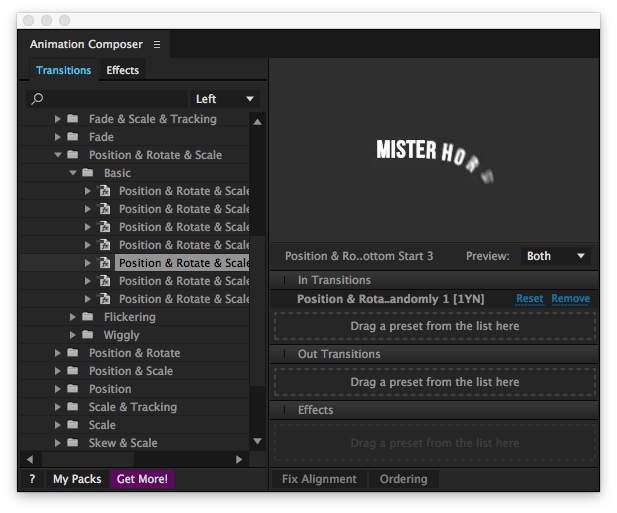 After Effects animation composer
