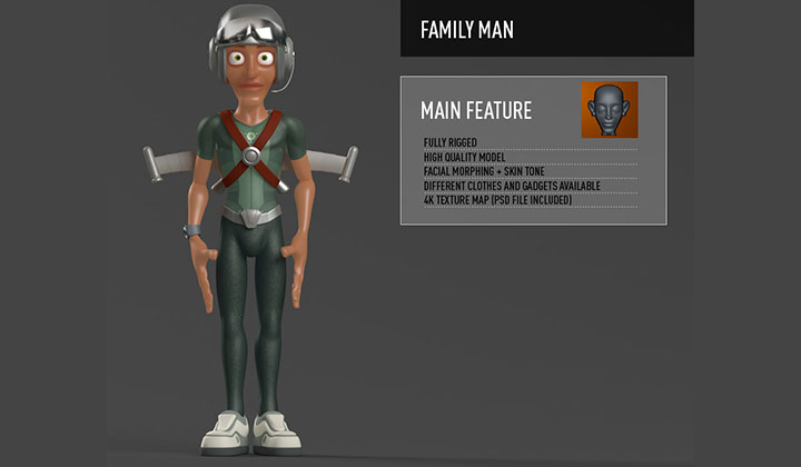 RenderKing Launches CharactersPack, Fully Rigged Characters