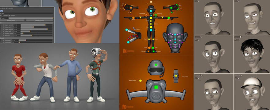 RenderKing Launches CharactersPack, Fully Rigged Characters for C4D