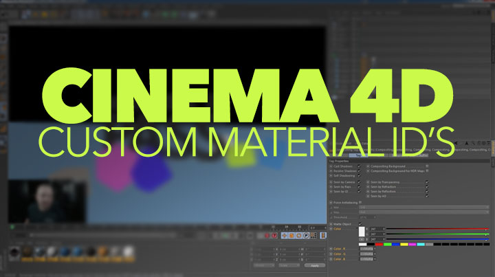 Create a Custom Material ID Pass in Cinema 4D With a Randomize