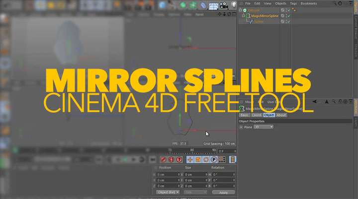 Free Magic Mirror Spline for C4D Offers a Unique Mirroring