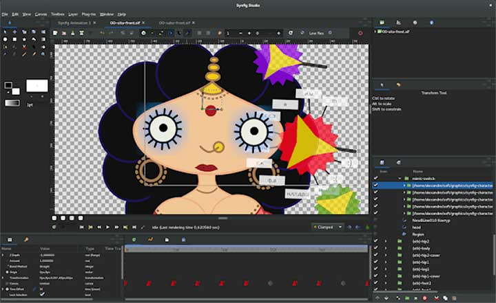 2d Character Design Software Download : Free open source d vector based animation synfig studio