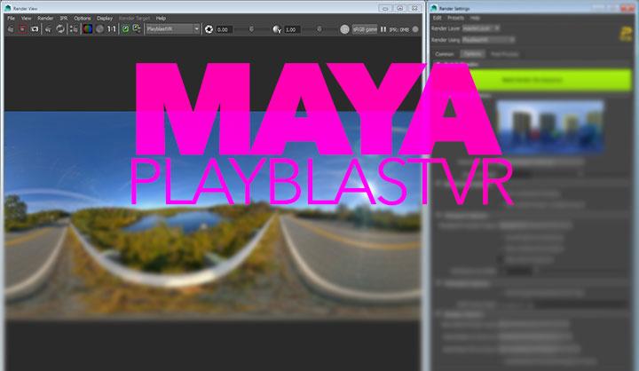Maya PlayblastVR panoramic image renderer