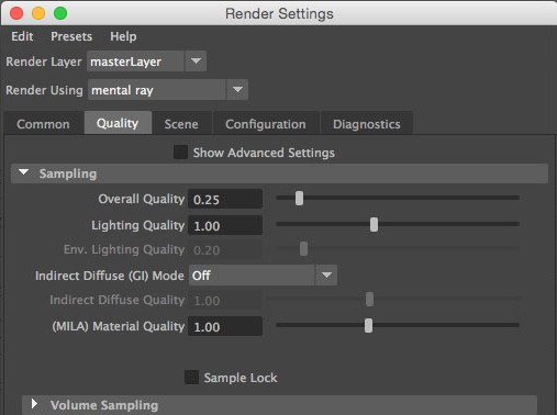 mental ray maya render settings