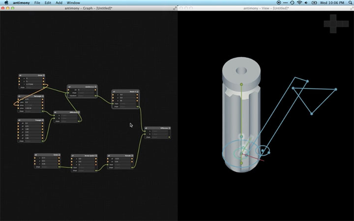 Antimony, a Free Node Based 3D CAD Modeling Tool - Lesterbanks