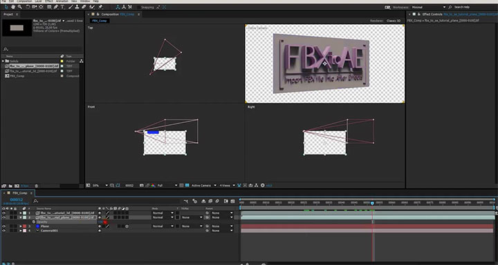 Import FBX to After Effects - Lesterbanks