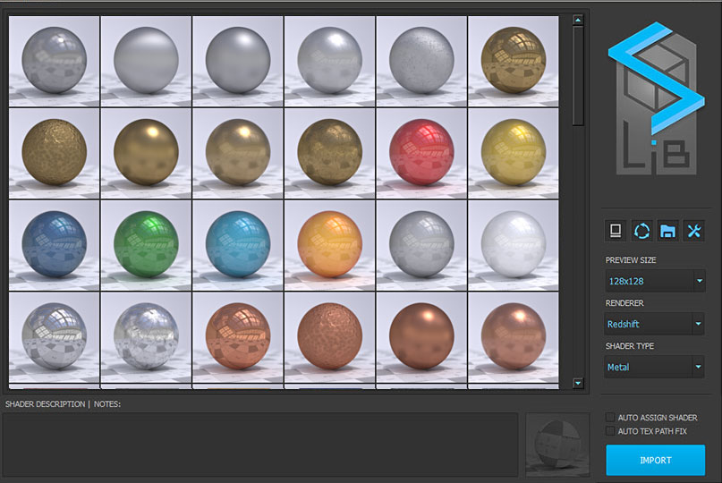 SLiB Shader Browser Maya