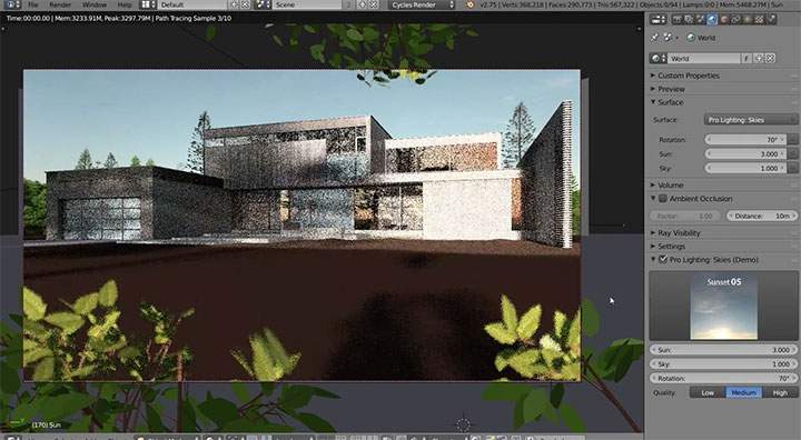 Creating realistic outdoor lighting with cycles lesterbanks aloadofball Gallery