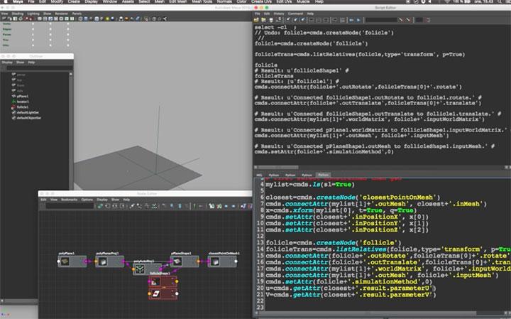 Python Scripting a Follicle Constraint Tool in Maya - Lesterbanks
