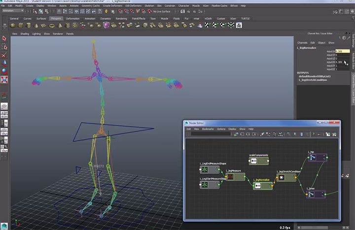 Scaling a Stretchy Rig in Maya - Lesterbanks