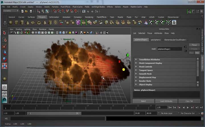 Creating a Fireball with the Elementacular Plugin for Maya