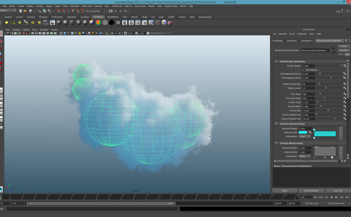 Creating a Fireball with the Elementacular Plugin for Maya - Lesterbanks