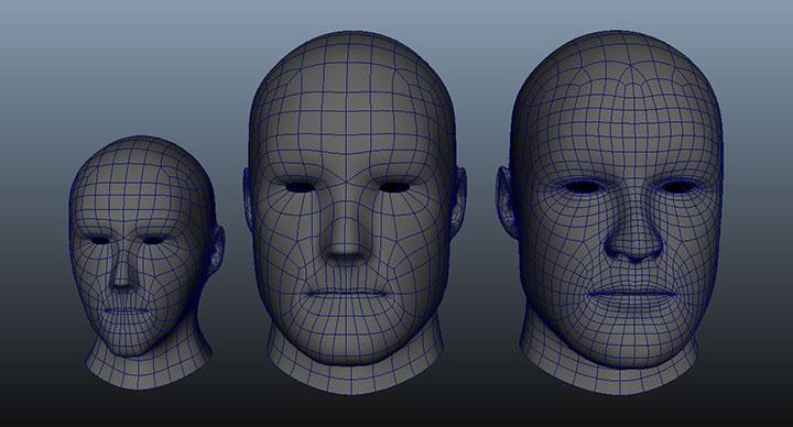 UVBlendShape Deformer Creates Topology Independent Blend