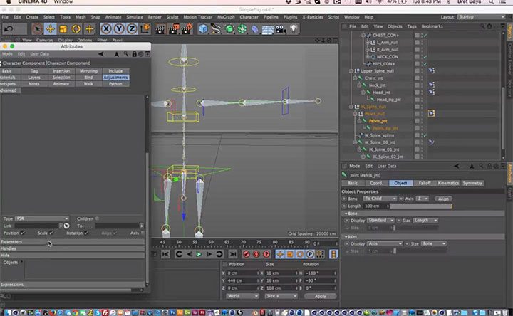 Creating a Character Template From an Existing Rig in Cinema 4D ...