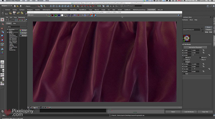 Creating a Great-Looking Cloth Shader in V-Ray for Maya
