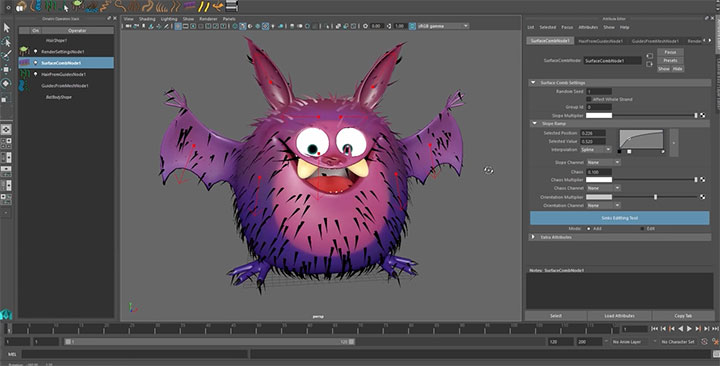 Creating Parametric Fur for a Character in Maya With