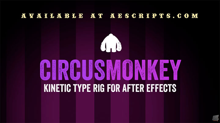 circusmonkey offers a new take on kinetic type in ae lesterbanks