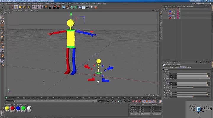 Use the Interaction Tag as a Character Selector in Cinema 4D