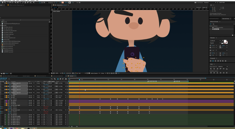 Animating a Character in After Effects Using Standard Tools