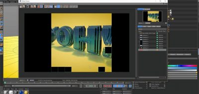 Create a Particle Morph Between Pixelated LED Type in Cinema