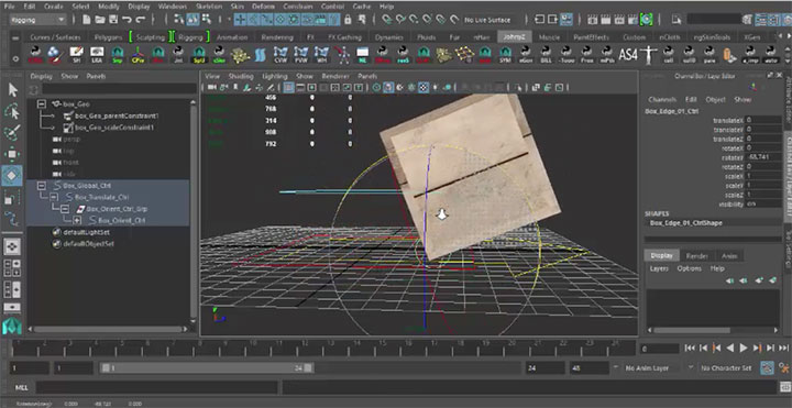 Rigging a Box With a Dynamic Pivot in Maya - Lesterbanks