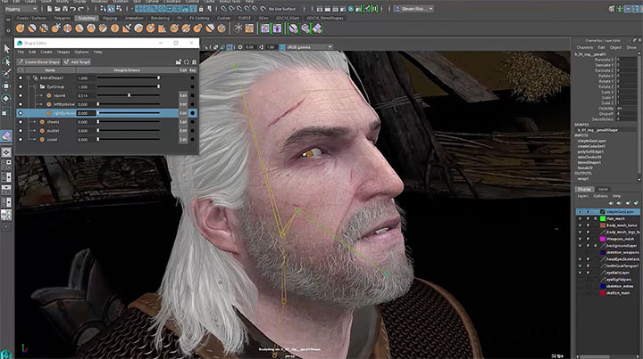 Watch the New BlendShape and PSD Workflows in Maya 2016 Ext