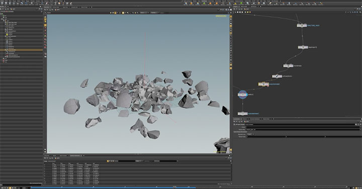 Swap Out Low Geometry for High in a Houdini Simulation