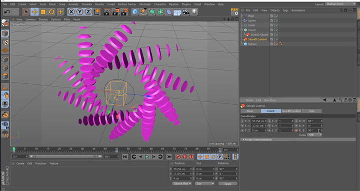 Using Slice4D with the Mograph Cloner in C4D - Lesterbanks