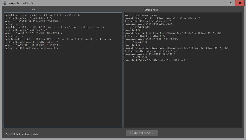 Easily Translate MEL Commands to Python - Lesterbanks