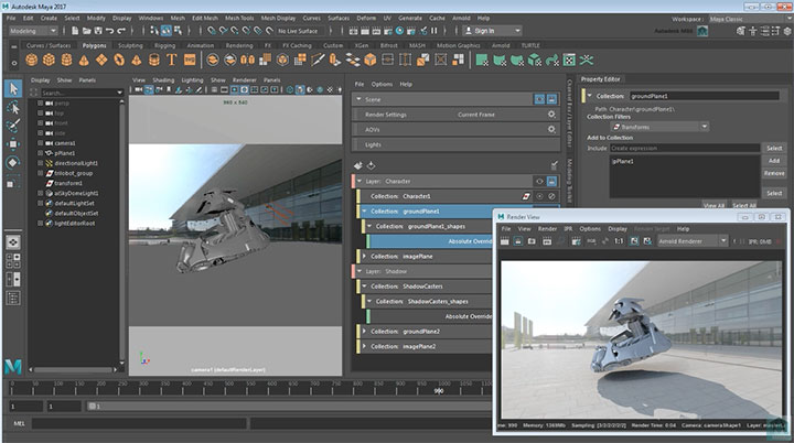 Autodesk Unveils Maya 2017, Mental Ray is Out, Arnold is In
