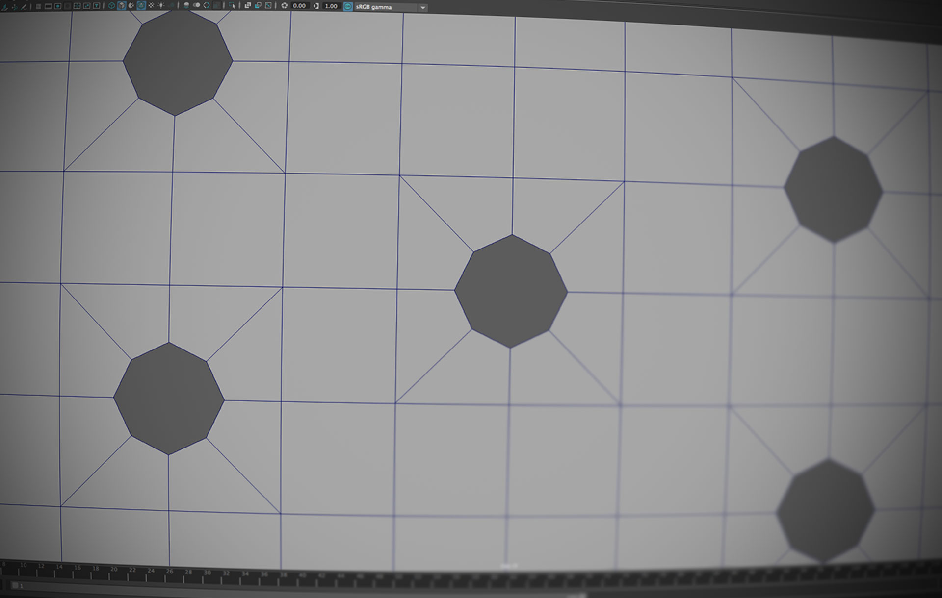 A Simple and Quick Octagonal Hole Script for Maya - Lesterbanks