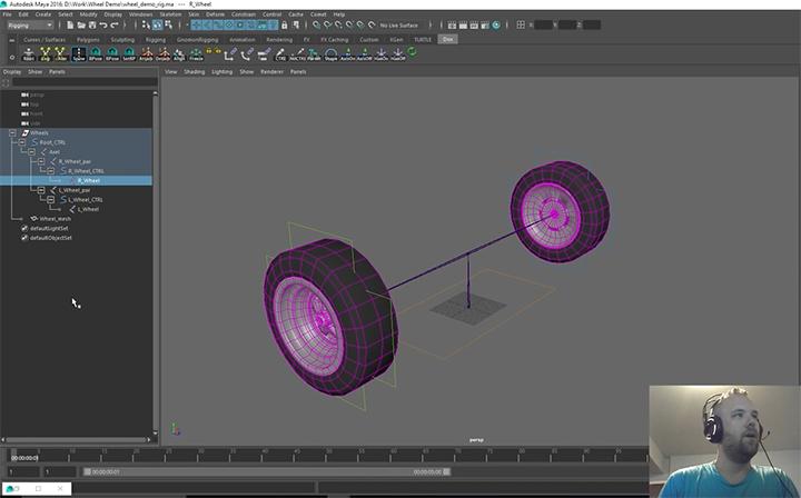 Build a Wheel Rig in Maya the Proper Way Using World Vectors