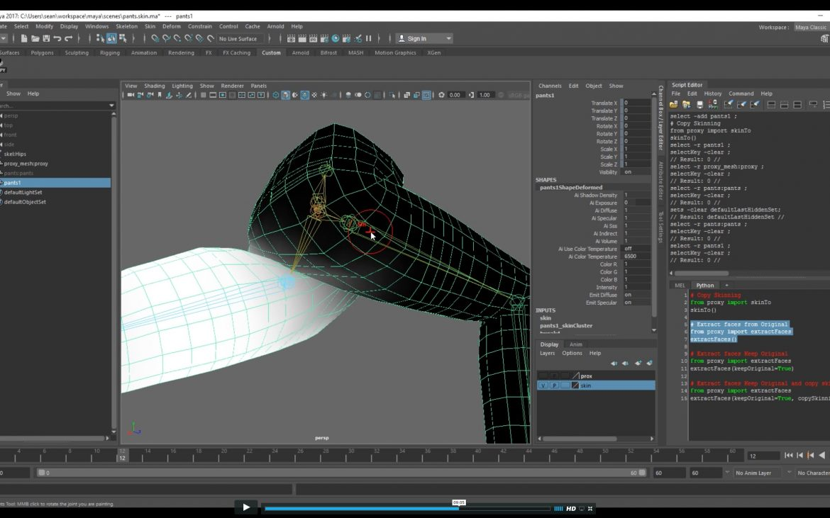 An Introduction to Proxy Skinning in Maya - Lesterbanks