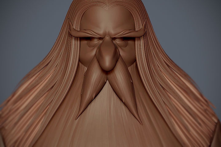 Watch an Alternative Method for Creating Hair in ZBrush
