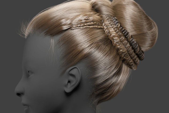 Hair Style 3d Image: Creating Complex Braids And Buns With Ornatrix In Maya