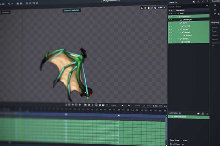 Getting Started With DragonBones, Free 2D Skeletal Animation