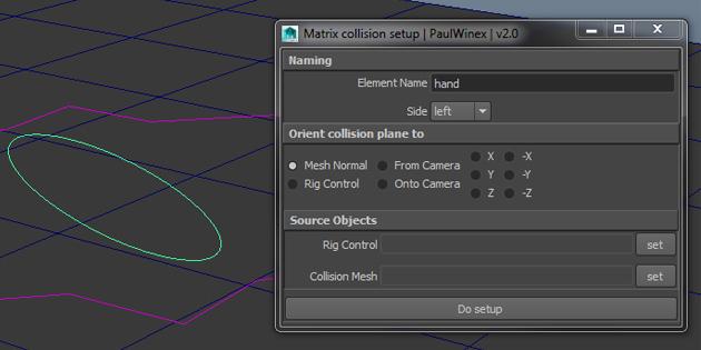 Matrix collision rig