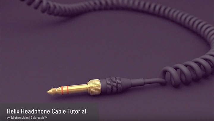 Modeling a Coiled Headphone Cable in C4D - Lesterbanks
