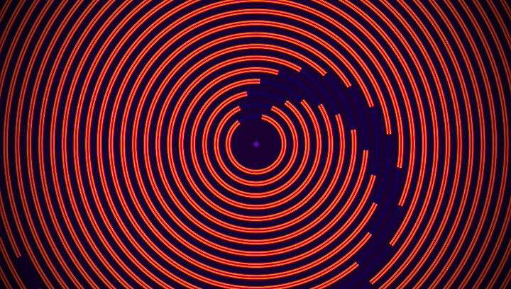 Control Animated Concentric Circles with Shapes and