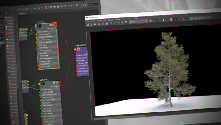 Make a Redshift Leaf Shader With Sprite and Ray Switch Nodes