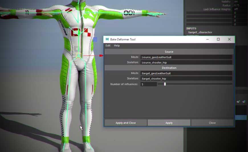 Working With Maya 2017 Update 3 Bake Deformer Tool - Lesterbanks