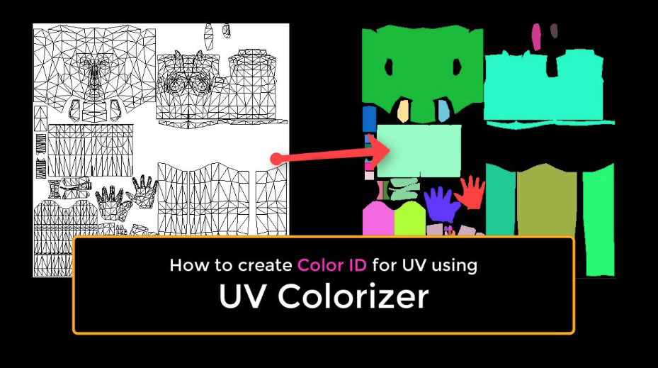 new c4d script easily makes color id s for uv s lesterbanks