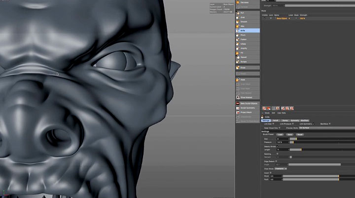 Add Details to Your Model With C4D's Sculpting Tools