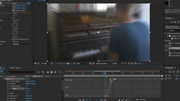 Creating a Simple Zoom Blur in After Effects - Lesterbanks