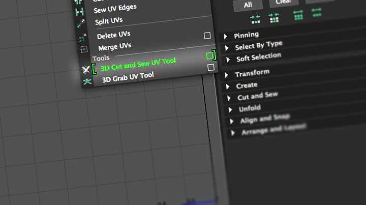 Working With the New 3D Cut and Sew UV Tool in Maya 2018