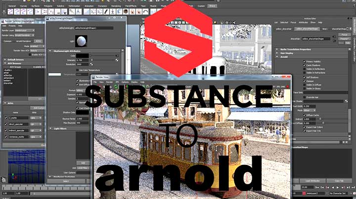 Free Substance Painter to Maya Arnold 5 Script - Lesterbanks
