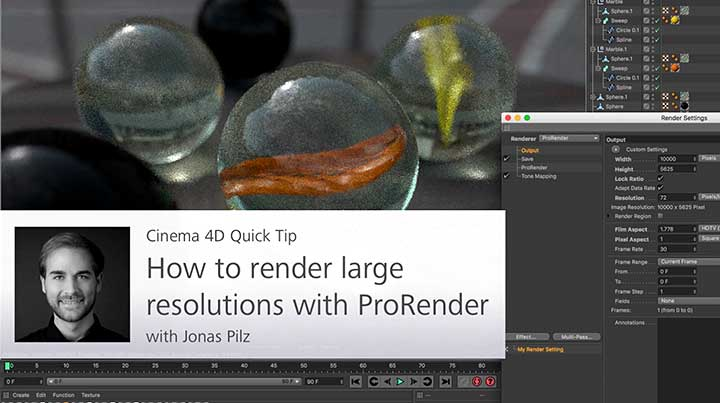 Tips for Rendering Large Resolutions With ProRender