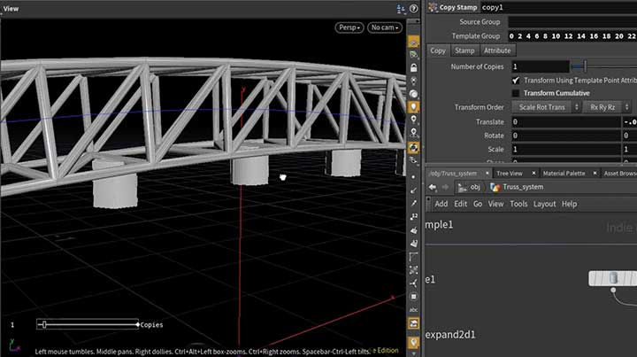 How To Build a Procedural Truss Support System in Houdini