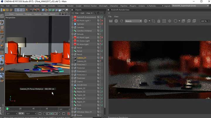 Add Shortcut Functionality to the Camera Focus-Picker in C4D
